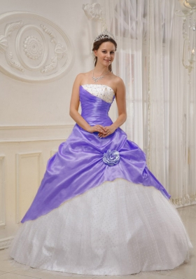 Gorgeous Puffy Strapless 2014 Spring Quinceanera Dress with Beading