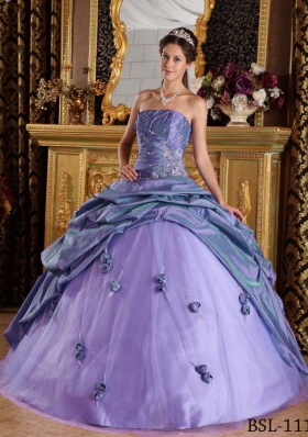 Elegant Puffy Strapless 2014 Beading Quinceanera Dresses with Pick-ups