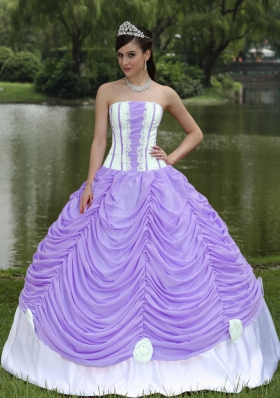 2014 Custom Made Puffy Quinceanera Dresses With Strapless Pick-ups