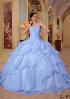 Classical Puffy Sweetheart 2014 Beading Quinceanera Dresses with Ruffles