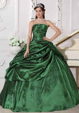 Beading Ball Gown 2014 Spring Quinceanera Dresses with Strapless