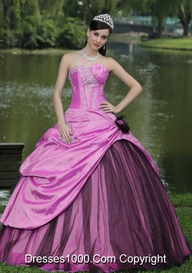 2014 New Style Sweetheart Taffeta Quinceanera Dress with Appliques
