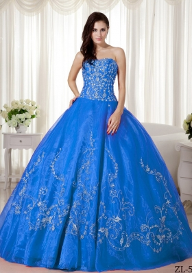 Elegant Ball Gown Sweetheart Beading and Embroidery For 2014 Quinceanera Dress