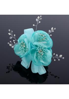 2014 Cute Pearl Net Yarn Chiffon Hair Flowers