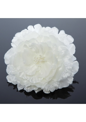 2014 Simple White Tulle Fascinators for Outdoor
