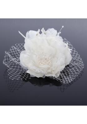 2014 Unique Tulle White Fascinators with Pearls