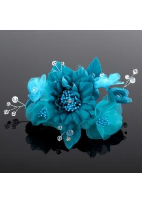 Beautiful Pearls Blue Tulle Fascinators Hair Flower
