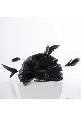 Cheap Black Feather Organza Wedding Hair Ornament