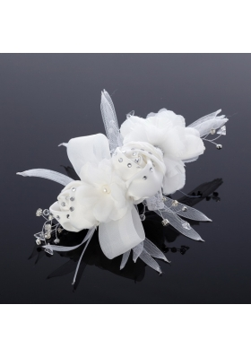 Cheap Tulle Rhinestone Hair Flower for Wedding