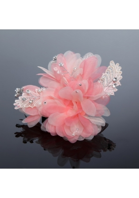 2014 Beautiful Lace and Tulle Watermelon Fascinators
