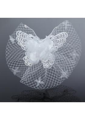 2014 Cheap Tulle Beading Wedding Net Yarn Briadl Hat