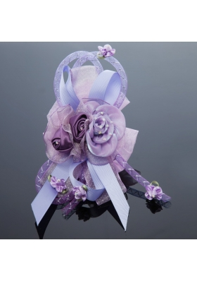 2014 Pretty Beading Tulle Lavender Hair Ornament