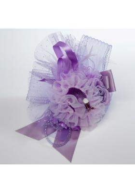 Black Rhinestone Feather Hair Ornament for Imitation Pearls