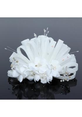 Elegant Tulle Wedding Party Fascinators with Imitation Pearls