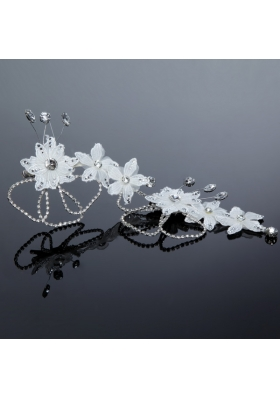 Nobile Alloy Silver Rhinestone Hair Ornament for Wedding