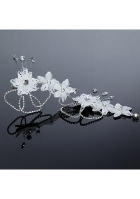 Nobile Alloy Silver Rhinestone Hair Ornament for Wedding
