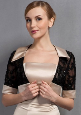 Black 1/2 Sleeves Jacket For Formal Evening