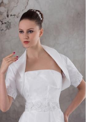 Gorgeous White  Short Sleeves Jacket