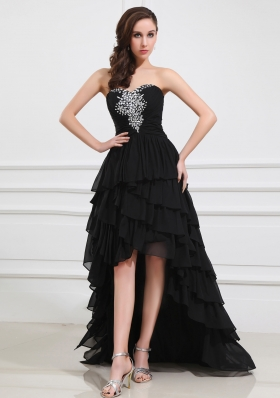 2014 The Super Hot Sweetheart High-Low Beading and Ruffled Layers Prom Dress