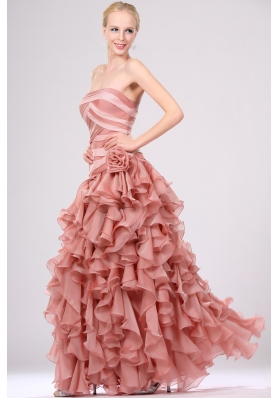 Gorgeous Empire Strapless Ruffles Prom Dress for 2014