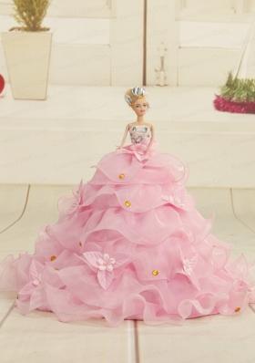 2015 Baby Blue Bowknot Barbie Doll Dress