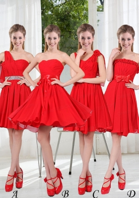 2015The Brand New Style Bridesmaid Dress Chiffon Ruching with A Line