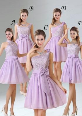 2015 Brand New Style A Line Chiffon Bridesmaid Dress