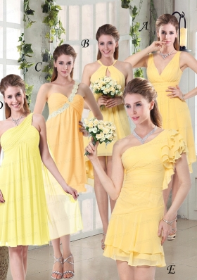 2015 Discount Fashionable Decorated Bridesmaid Dresses in Chiffon