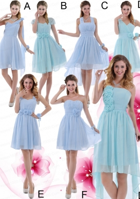2015 Ruching Zipper Up Wonderful Bridesmaid Dress