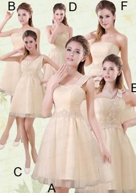 2015 The Brand New Style Mini Length Bridesmaid Dress