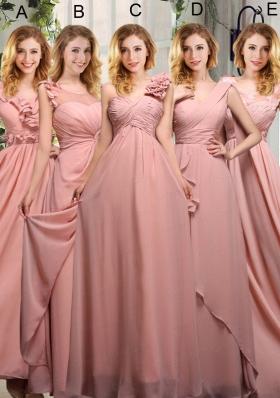 Empire Ruching 2015 Sturning Bridesmaid Dresses in Peach