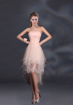 Appliques Strapless Ruffles Organza 2015 Sturning Bridesmaid Dresses