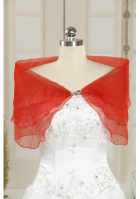 2015 Beautiful New Style Beading Shawls in Coral Red