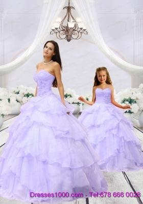 2015 Unique Beading and Ruching Princesita Dress in Lavender