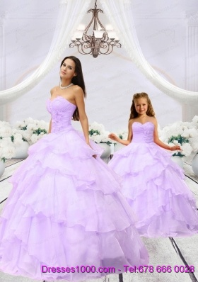 Affordable Beading and Ruching Lilac Princesita Dress for 2015