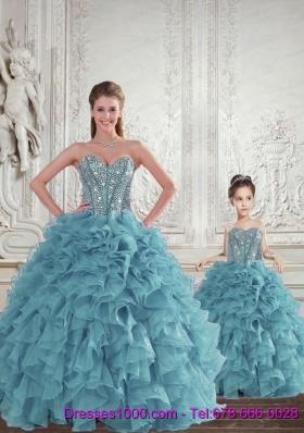 Gorgeous Beading and Ruffles Princesita Dress for 2015 Spring