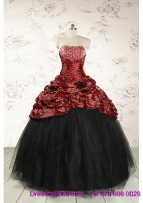 2015 Exclusive Ball Gown Multi-color Leopard Quinceanera Dress
