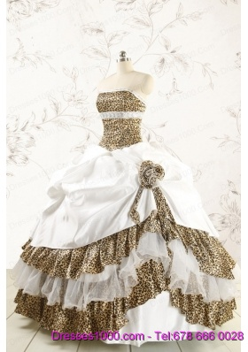 2015 Unique Quinceanera Dresses with Strapless Leopard