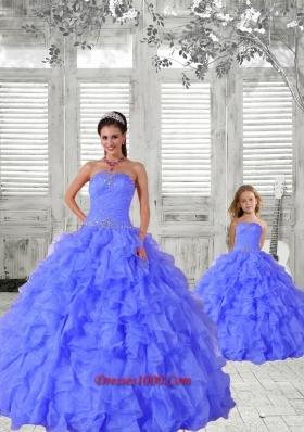 New Style Beading and Ruching Princesita Dress in Purple