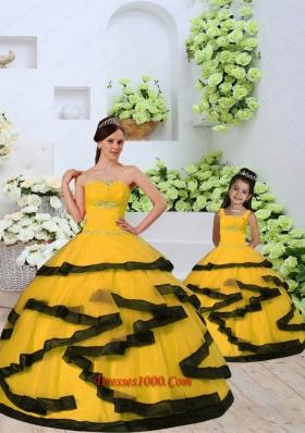 New Arrival Beading and Ruching Princesita Dress in Light Orange for 2015
