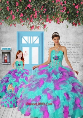 2015 New Style Multi-color Princesita Dress with Appliques and Ruffles