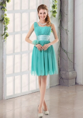 Straps Ruching Sweetheart A Line 2015 Elegant Prom Dress