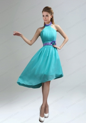 New Fashion High Neck Asymmetrical Multi-color Prom Dress