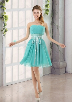 Perfect Belt Ruching Sweetheart A Line Prom Dress for 2015