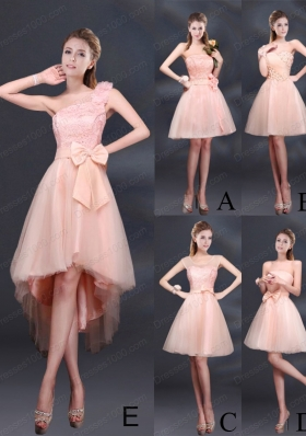 2015 Lace Up Organza Prom Dress with A Line