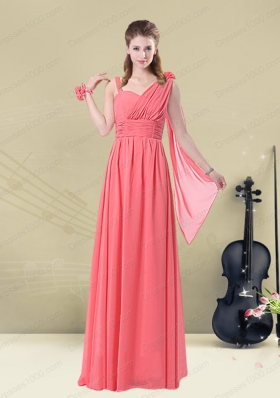 Stunning Asymmetrical Column Ruched Mother of the Bride Dresses