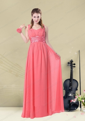 Super Hot Straps Floor Length Mother of the Bride Dresses with Belt