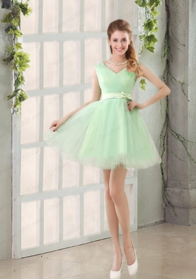 2015 Natural Organza A Line Belt Mother of the Bride Dresses