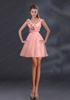 2015 Pretty Appliques and Ruffles A Line Mother of the Bride Dresses