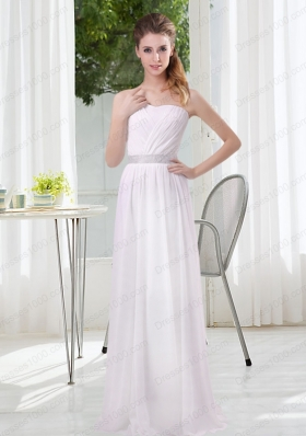 2015 Simple Empire Ruching Mother of the Bride Dresses in White